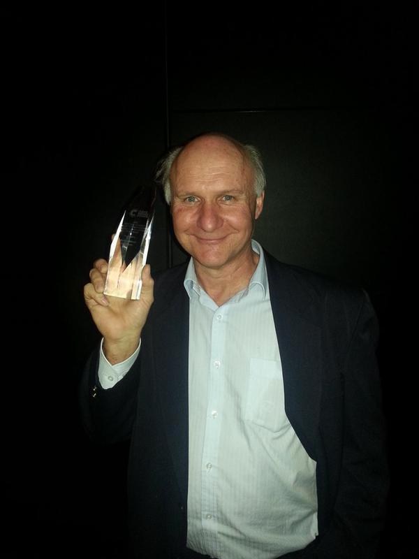 Mick with Award