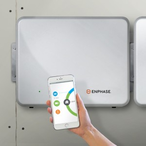 enphase ac battery on the wall