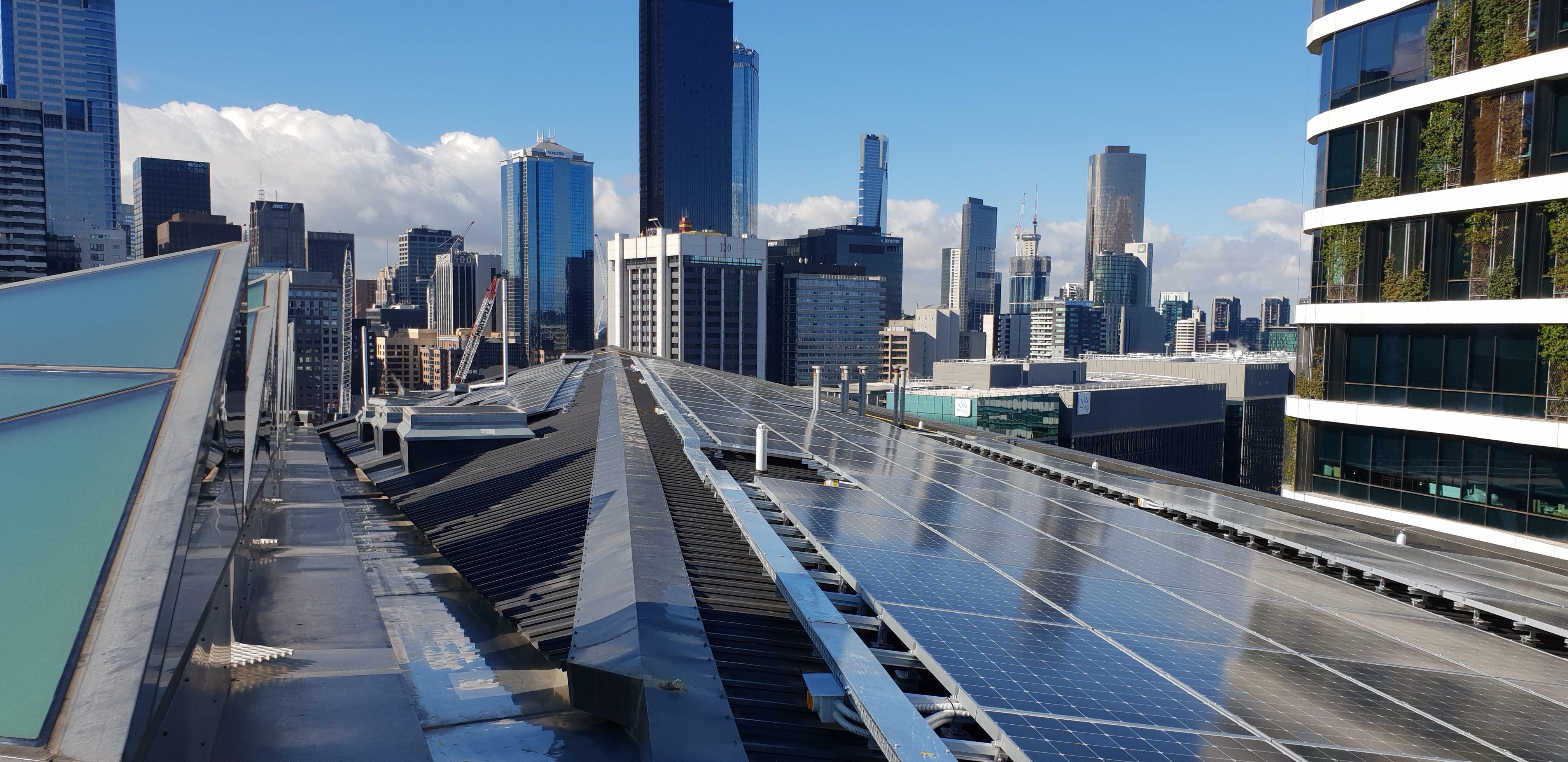 700 Bourke Street, Solar PV install