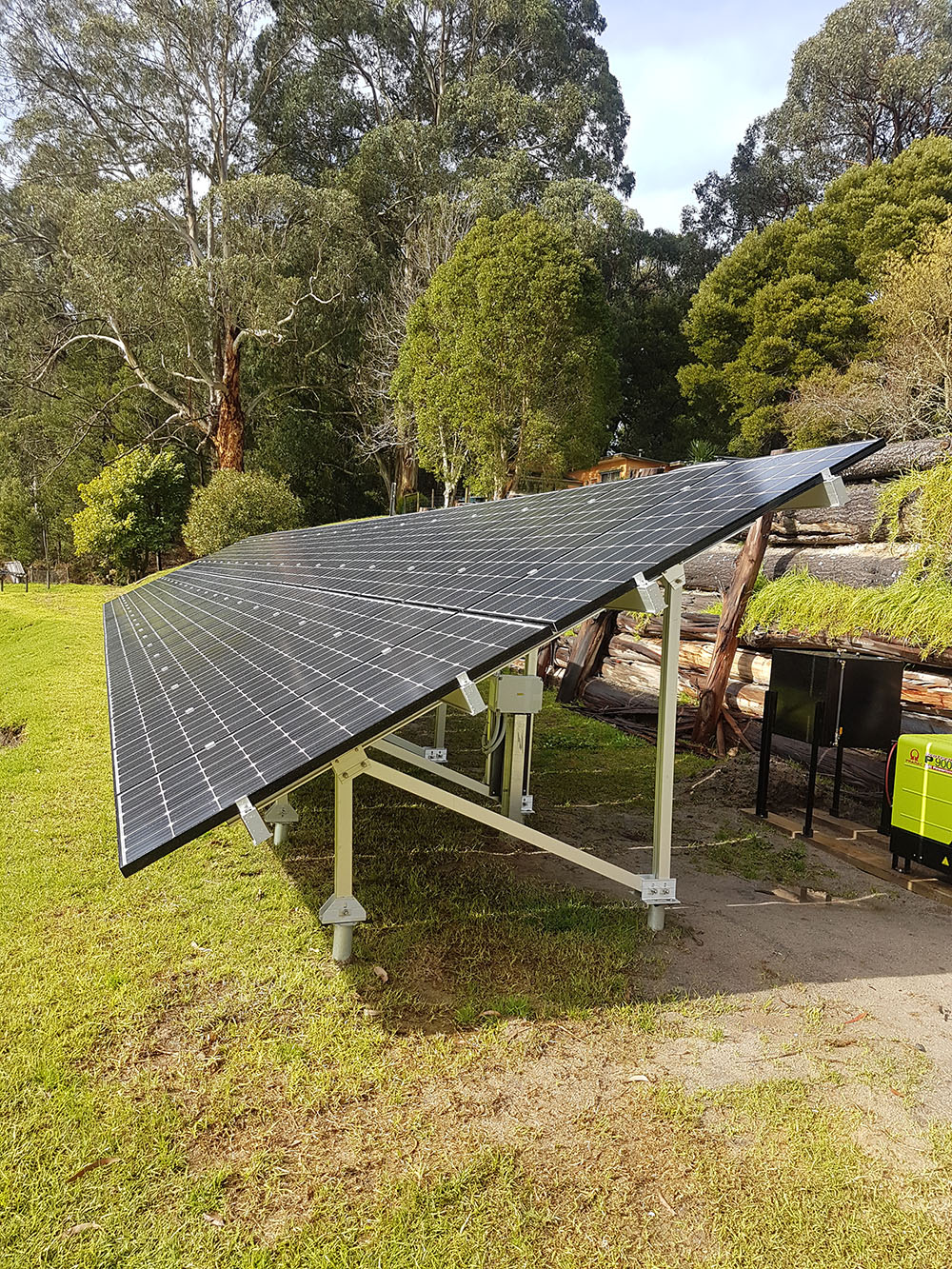 Department of Energy Land Water and Planning bushfire-proof off-grid clean power system